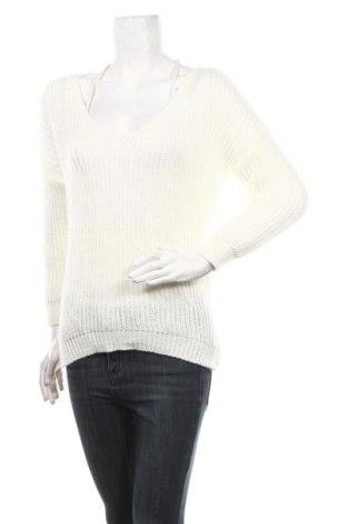 Γυναικείο πουλόβερ Famous, Μέγεθος M, Χρώμα Εκρού, 40%ακρυλικό, 30% μοχαίρ, 30% μαλλί, Τιμή 11,19€