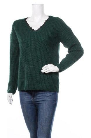 Дамски пуловер Reserved, Размер S, Цвят Зелен, Акрил, Цена 35,70лв.