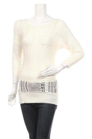 Дамски пуловер Tout Feu Tout Femme, Размер S, Цвят Бял, 100% акрил, Цена 4,99лв.