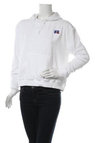 Дамски суичър Russell Athletic, Размер L, Цвят Бял, 80% памук, 20% полиестер, Цена 31,20лв.