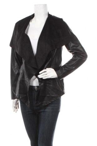 Дамско кожено яке Avon, Размер L, Цвят Черен, Еко кожа, текстил, Цена 35,70лв.