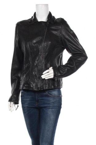 Дамско кожено яке Gipsy By Mauritius, Размер XL, Цвят Черен, Естествена кожа, Цена 233,40лв.