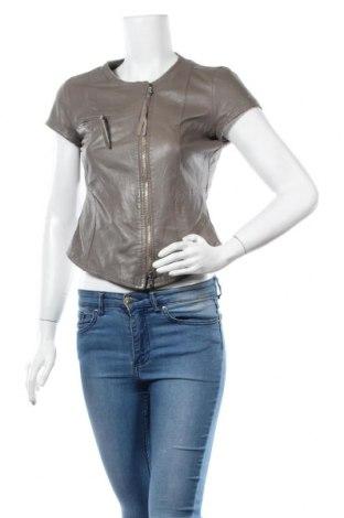 Дамско кожено яке Imperial, Размер M, Цвят Кафяв, Естествена кожа, Цена 69,30лв.