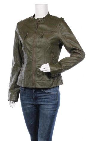 Дамско кожено яке S.Oliver, Размер M, Цвят Зелен, Еко кожа, Цена 44,10лв.