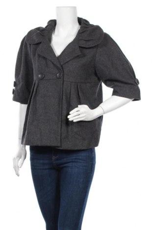 Дамско палто, Размер M, Цвят Сив, 50% полиестер, 50% вълна, Цена 14,25лв.