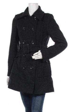 Дамско палто H&M, Размер M, Цвят Сив, 80% вълна, 20% полиамид, Цена 79,80лв.