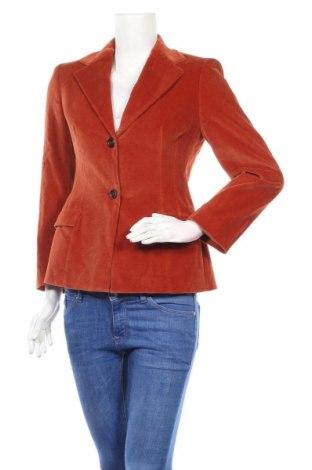 Дамско сако Piazza Sempione, Размер S, Цвят Оранжев, 77% памук, 21% вискоза, 2% еластан, Цена 76,00лв.