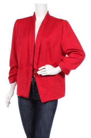 Дамско сако Ricki's, Размер XXL, Цвят Червен, 73% полиестер, 23% вискоза, 4% еластан, Цена 28,93лв.
