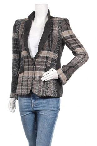 Дамско сако Zara, Размер M, Цвят Многоцветен, 34% акрил, 20% лен, 15% вълна, 14% вискоза, 12% памук, 3% полиестер, 2% еластан, Цена 37,80лв.