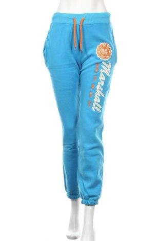 Дамско спортно долнище Marshall, Размер M, Цвят Син, 70% памук, 30% полиестер, Цена 41,30лв.