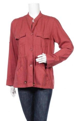 Дамско яке Atlas For Women, Размер M, Цвят Червен, 50% лен, 50% вискоза, Цена 11,55лв.