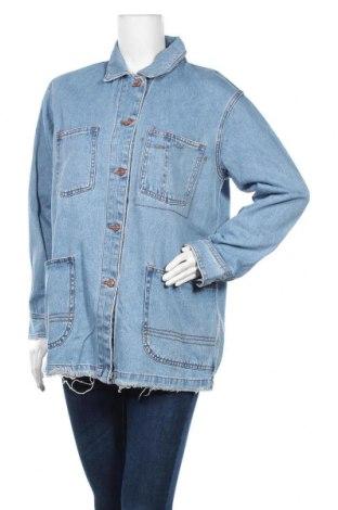 Дамско яке Pull&Bear, Размер M, Цвят Син, Памук, Цена 38,35лв.