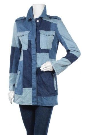 Γυναικείο μπουφάν TWINSET, Μέγεθος XS, Χρώμα Μπλέ, 98% βαμβάκι, 2% ελαστάνη, Τιμή 43,61€