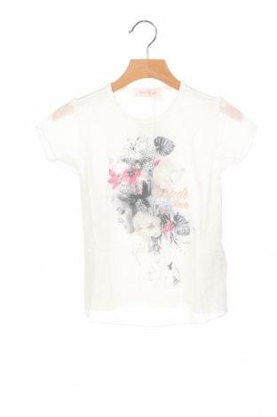 Детска блуза Gaudi, Размер 3-4y/ 104-110 см, Цвят Бял, 95% вискоза, 5% еластан, Цена 26,55лв.