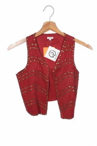 Детска жилетка Gocco, Размер 8-9y/ 134-140 см, Цвят Червен, Текстил, Цена 30,80лв.