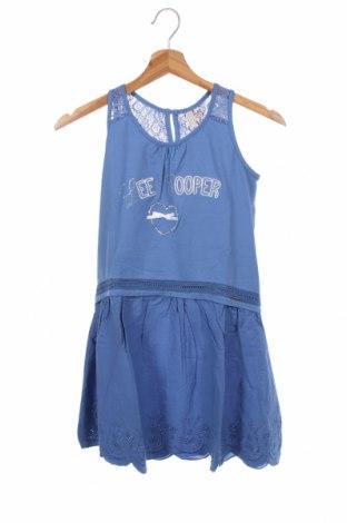 Детска рокля Lee Cooper, Размер 4-5y/ 110-116 см, Цвят Син, 95% памук, 5% еластан, Цена 33,00лв.