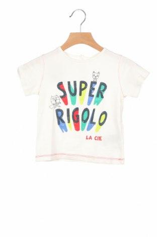Παιδικό μπλουζάκι La Compagnie des Petits, Μέγεθος 18-24m/ 86-98 εκ., Χρώμα Λευκό, Βαμβάκι, Τιμή 6,43€