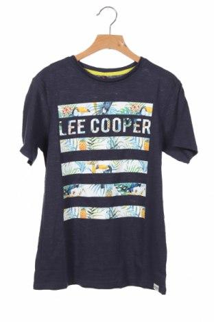 Детска тениска Lee Cooper, Размер 11-12y/ 152-158 см, Цвят Син, Памук, Цена 13,76лв.
