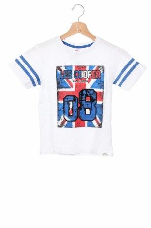 Детска тениска Lee Cooper, Размер 7-8y/ 128-134 см, Цвят Бял, Памук, Цена 13,76лв.