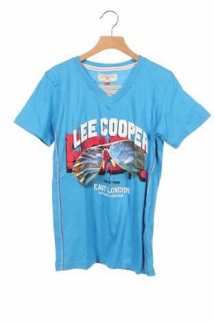 Детска тениска Lee Cooper, Размер 11-12y/ 152-158 см, Цвят Син, Памук, Цена 14,00лв.