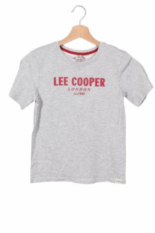 Детска тениска Lee Cooper, Размер 9-10y/ 140-146 см, Цвят Сив, Памук, Цена 13,76лв.