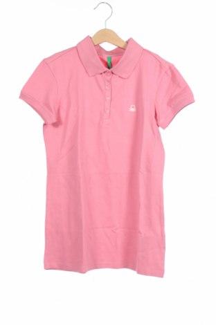 Παιδικό μπλουζάκι United Colors Of Benetton, Μέγεθος 12-13y/ 158-164 εκ., Χρώμα Ρόζ , 97% βαμβάκι, 3% ελαστάνη, Τιμή 8,25€