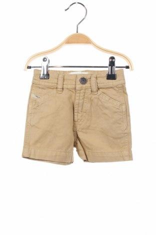 Pantaloni scurți pentru copii Diesel, Mărime 3-6m/ 62-68 cm, Culoare Bej, Bumbac, Preț 10,24 Lei