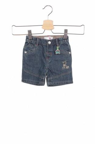 Παιδικό κοντό παντελόνι La Compagnie des Petits, Μέγεθος 3-6m/ 62-68 εκ., Χρώμα Μπλέ, Βαμβάκι, Τιμή 8,91€