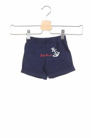 Παιδικό κοντό παντελόνι Little Marcel, Μέγεθος 2-3m/ 56-62 εκ., Χρώμα Μπλέ, Βαμβάκι, Τιμή 8,35€