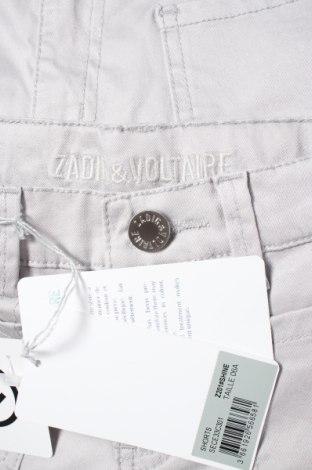 Pantaloni scurți pentru copii Zadig & Voltaire, Mărime 5-6y/ 116-122 cm, Culoare Gri, 97% bumbac, 3% elastan, Preț 52,99 Lei