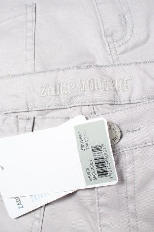 Pantaloni scurți pentru copii Zadig & Voltaire, Mărime 11-12y/ 152-158 cm, Culoare Gri, 97% bumbac, 3% elastan, Preț 52,99 Lei