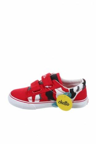 Παιδικά παπούτσια Chetto, Μέγεθος 29, Χρώμα Κόκκινο, Κλωστοϋφαντουργικά προϊόντα, Τιμή 15,30€