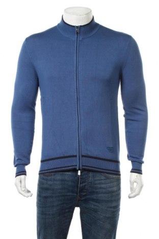 Мъжка жилетка Armani Jeans, Размер M, Цвят Син, 78% вискоза, 22% полиамид, Цена 155,40лв.
