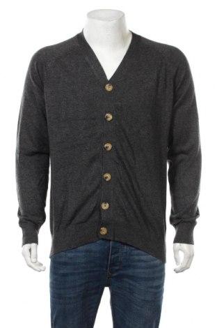 Мъжка жилетка William de Faye, Размер XL, Цвят Сив, 45% кашмир, 20% коприна, 20% вискоза, 15% еластан, Цена 67,20лв.