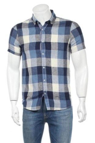 Мъжка риза Best Mountain, Размер S, Цвят Син, 55% лен, 45% памук, Цена 21,07лв.