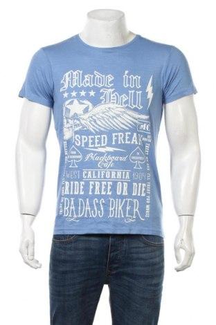 Ανδρικό t-shirt Best Mountain, Μέγεθος S, Χρώμα Μπλέ, Βαμβάκι, Τιμή 6,12€