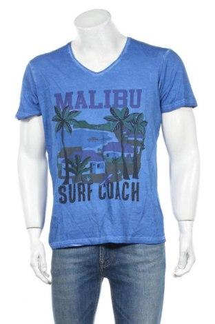 Мъжка тениска Best Mountain, Размер M, Цвят Син, Памук, Цена 18,06лв.
