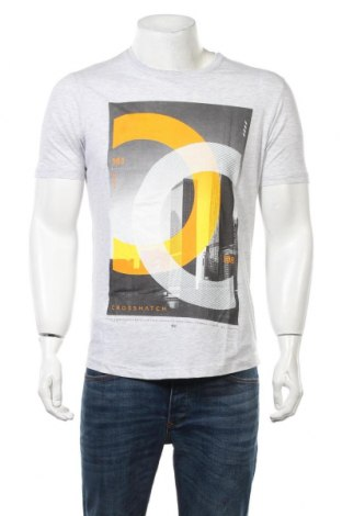 Ανδρικό t-shirt Crosshatch, Μέγεθος M, Χρώμα Γκρί, 70% βαμβάκι, 30% πολυεστέρας, Τιμή 12,66€