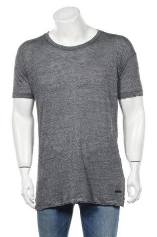 Мъжка тениска Eleven Paris, Размер L, Цвят Син, Вискоза, Цена 21,70лв.