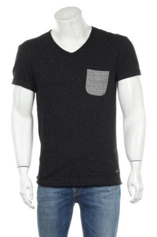 Мъжка тениска Eleven Paris, Размер L, Цвят Черен, 98% памук, 2% полиестер, Цена 24,15лв.
