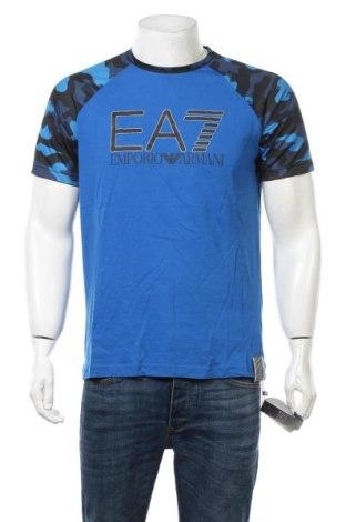 Мъжка тениска Emporio Armani, Размер M, Цвят Син, Памук, Цена 64,07лв.