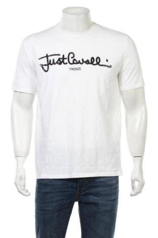 Ανδρικό t-shirt Just Cavalli, Μέγεθος XXL, Χρώμα Λευκό, 92% βαμβάκι, 8% ελαστάνη, Τιμή 55,73€