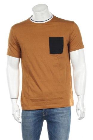 Мъжка тениска Trussardi Jeans, Размер L, Цвят Кафяв, Памук, Цена 48,95лв.