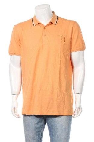 Мъжка тениска Trussardi Jeans, Размер XL, Цвят Оранжев, Памук, Цена 43,45лв.