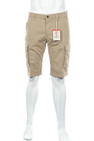 Мъжки къс панталон Franklin & Marshall, Размер L, Цвят Бежов, 98% памук, 2% еластан, Цена 30,24лв.