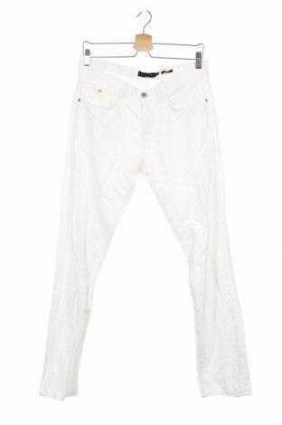 Мъжки панталон Massimo Dutti, Размер M, Цвят Бял, 56% лен, 44% памук, Цена 26,60лв.