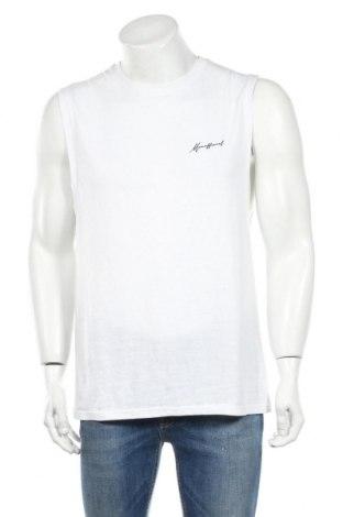 Ανδρική αμάνικη μπλούζα Boohoo, Μέγεθος M, Χρώμα Λευκό, 52% πολυεστέρας, 48% βαμβάκι, Τιμή 5,67€
