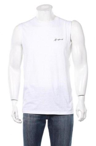 Ανδρική αμάνικη μπλούζα Boohoo, Μέγεθος M, Χρώμα Λευκό, 52% πολυεστέρας, 48% βαμβάκι, Τιμή 6,70€