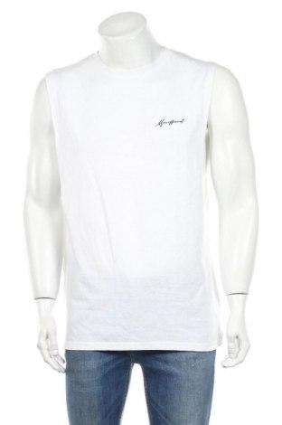 Ανδρική αμάνικη μπλούζα Boohoo, Μέγεθος L, Χρώμα Λευκό, 52% πολυεστέρας, 48% βαμβάκι, Τιμή 6,70€