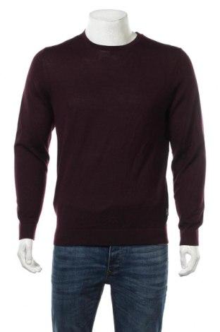 Мъжки пуловер Calvin Klein, Размер L, Цвят Лилав, Вълна, Цена 101,32лв.